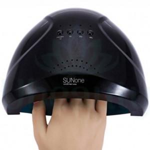 Лампа для полимеризации гелей, полигелей, наращивания ногтей Sun One черная UV LED  48W/24W. Сан 1