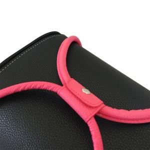 Маникюрный чемодан из экокожи 25*30*24 см ЧЕРНЫЙ с розовыми ручками ,MIS1500
