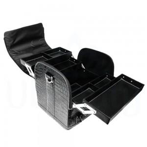 Сумка органайзер большая, для мастера маникюра, парикмахера, визажиста, лак, чёрная