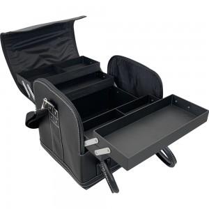 Маникюрный чемодан из экокожи 25*30*24 см мягкий ЧЕРНЫЙ ,MIS1500