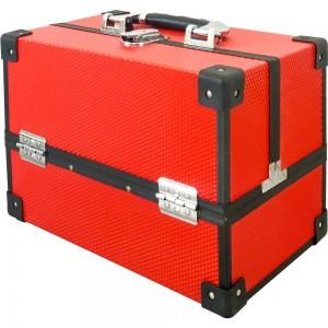 Маникюрный жесткий чемодан 30*20*22 см РЕЛЬЕФНЫЙ КРАСНЫЙ ,MIS1500