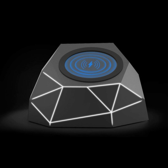 Xoopar - Geo Dock Wireless Charger (Black With White Led Light), 41897, For the whole family,  Toys,For the whole family ,  buy with worldwide shipping