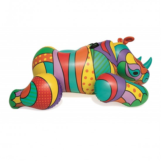 Swimming circle Bestway 41116 Pop art rhinoceros (201x102), 952728241, Water fun,  Network engineering,All pool ,Swimming pools and accessories, buy with worldwide shipping