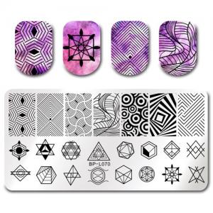 Пластина для стемпинга Голографические эффекты, геометрия-микс, BP-L070