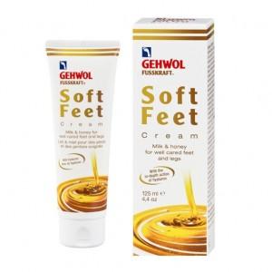 Шелковый крем 'Молоко и мед' c гиалуроновой кислотой - Gehwol Fusskraft soft creme milk&honig / Soft-Feet Creme