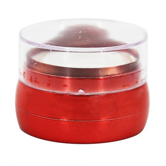 Silicone stamp for stamping (round/transparent/red), 58641, Nails,  Health and beauty. All for beauty salons,All for a manicure ,Nails, buy with worldwide shipping