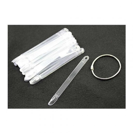 Sample plate 50pcs K53 long (fan transparent/12cm), 58729, Nails,  Health and beauty. All for beauty salons,All for a manicure ,Nails, buy with worldwide shipping