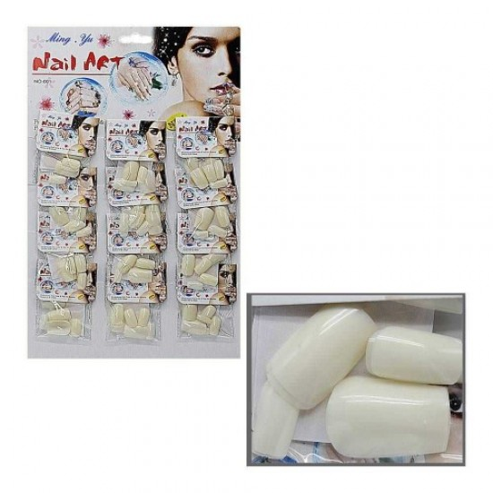 Nails on a sheet of 12pcs matte/transparent/white, 58606, Nails,  Health and beauty. All for beauty salons,All for a manicure ,Nails, buy with worldwide shipping