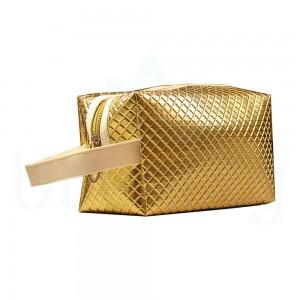 Косметичка пенал, органайзер для инструментов, цвет золотой