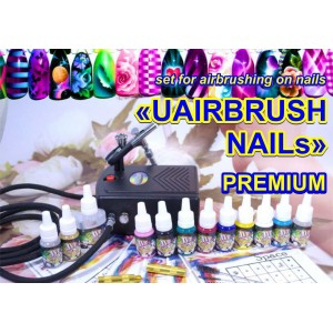 'UAIRBRUSH NAILs' PREMIUM kit