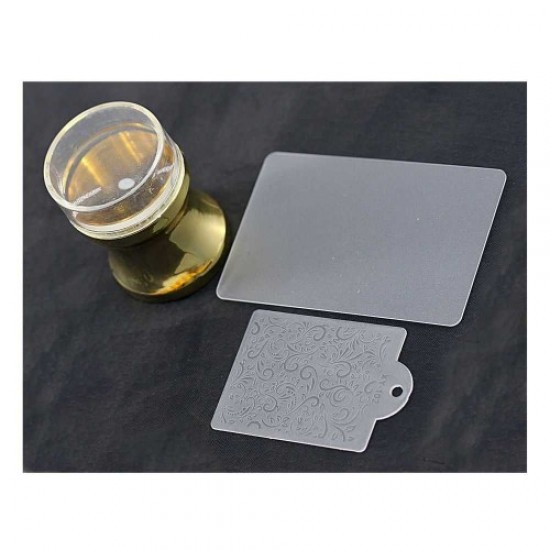 Silicone stamp for stamping (gold/purple/red), 58663, Nails,  Health and beauty. All for beauty salons,All for a manicure ,Nails, buy with worldwide shipping