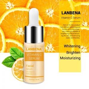 Антивозростная сыворотка Lanbena с витамином C сыворотка+шесть пептидов, 24K золото, гиалуроновая кислота, увлажняющий уход