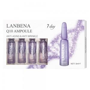 Ампулы коэнзим Q10 Lanbena, антивозрастной лифтинг укрепляющий увлажняющий питательный против морщин, Красота за 7 дней