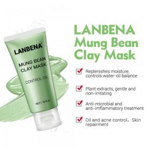 Глинняная маска Lanbena уменьшает следы постакне питательный глубокой очистки нефти управления очищают поры удаляют жир уход за кожей