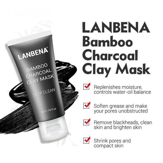 Черная маска для лица из бамбукового древесного угля, Lanbena Bamboo, 952732704, Care,  Health and beauty. All for beauty salons,Care ,  buy with worldwide shipping