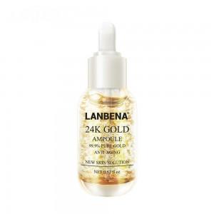 Ампулы Lanbena24K золото, против морщин, против старения, увлажняющий