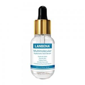 Гиалуроновая кислота сыворотка 40мл Lanbena гладкие тонкие линии увлажняющий лечение акне сужает поры, уход за кожей