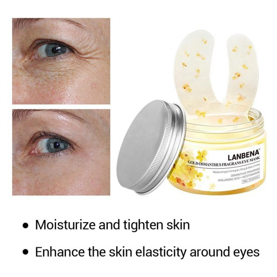 Патчи под глаза с османусом Lanbenaзолото маска для глаз убирает темные круги мешки морщины 50шт, 952732753, Care,  Health and beauty. All for beauty salons,Care ,  buy with worldwide shipping