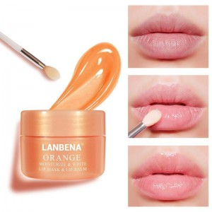 Бальзам для губ Lanbena Orange Lip Balm с экстрактом апельсина, витамин C, уход за губами для сна,увлажняющий, питательный
