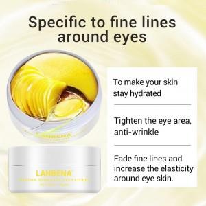 Гидрогелевые патчи под газа Lanbena ретинол коллаген анти-старения питание подтянуть кожу вокруг глаз исчезают мелкие морщины под глазами