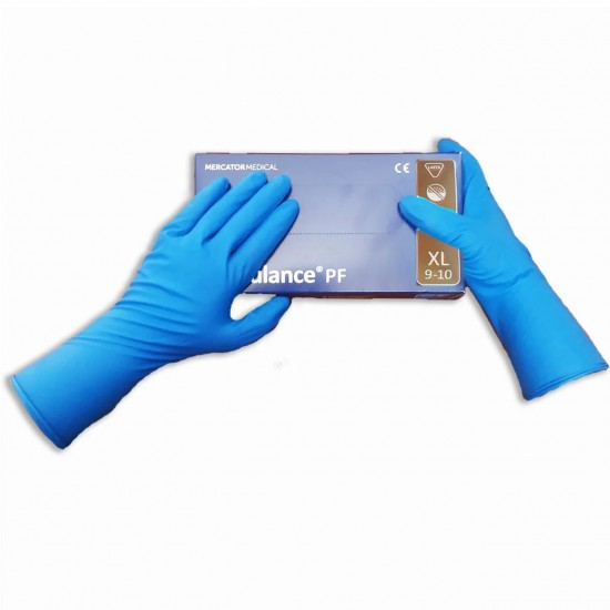 Gloves thick, latex, elongated Ambulance PF ultra, XL, 50 PCs, 25 pairs, Mercator Medical, blue, hand protection, skin protection, 952732905, All for a manicure,  Health and beauty. All for beauty salons,All for a manicure ,  buy with worldwide shipping