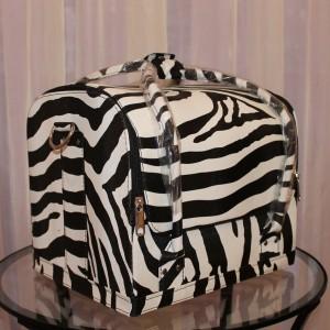 Кейс для мастера красоты (принт зебра)